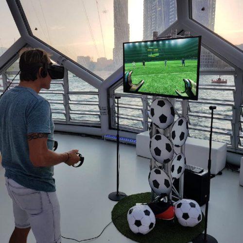 VR Voetbal Simulator op event